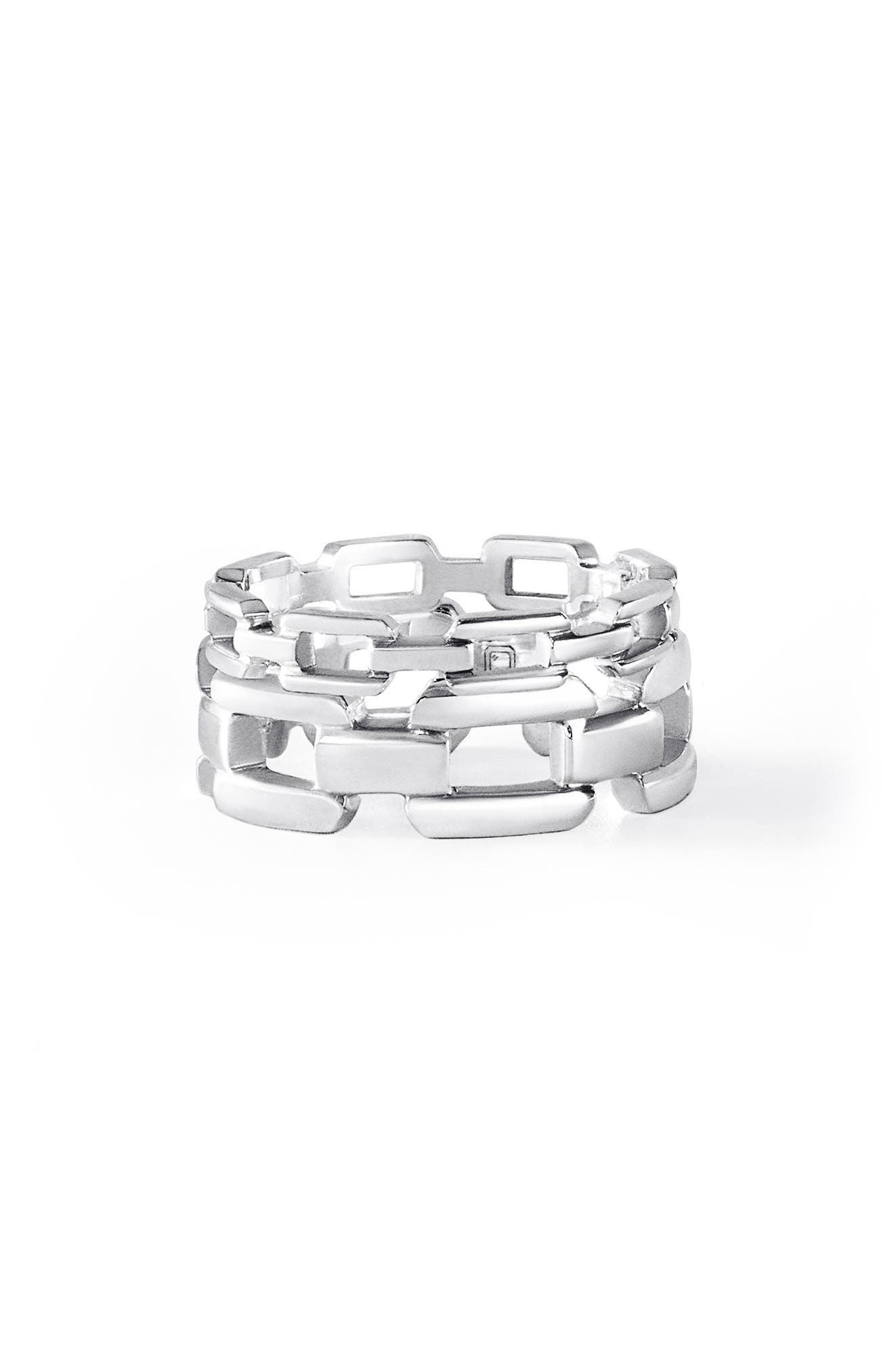 Troy Signature Link Sterling Silver Ring Set