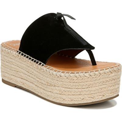 Sarto By Franco Sarto Malia Espradrille Wedge Slide Sandal- Black