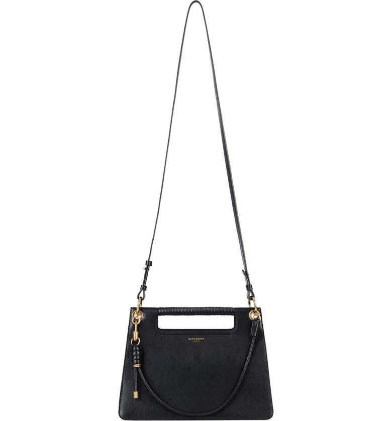 GIVENCHY Medium Whip Leather Top Handle Bag, Main, color, 001