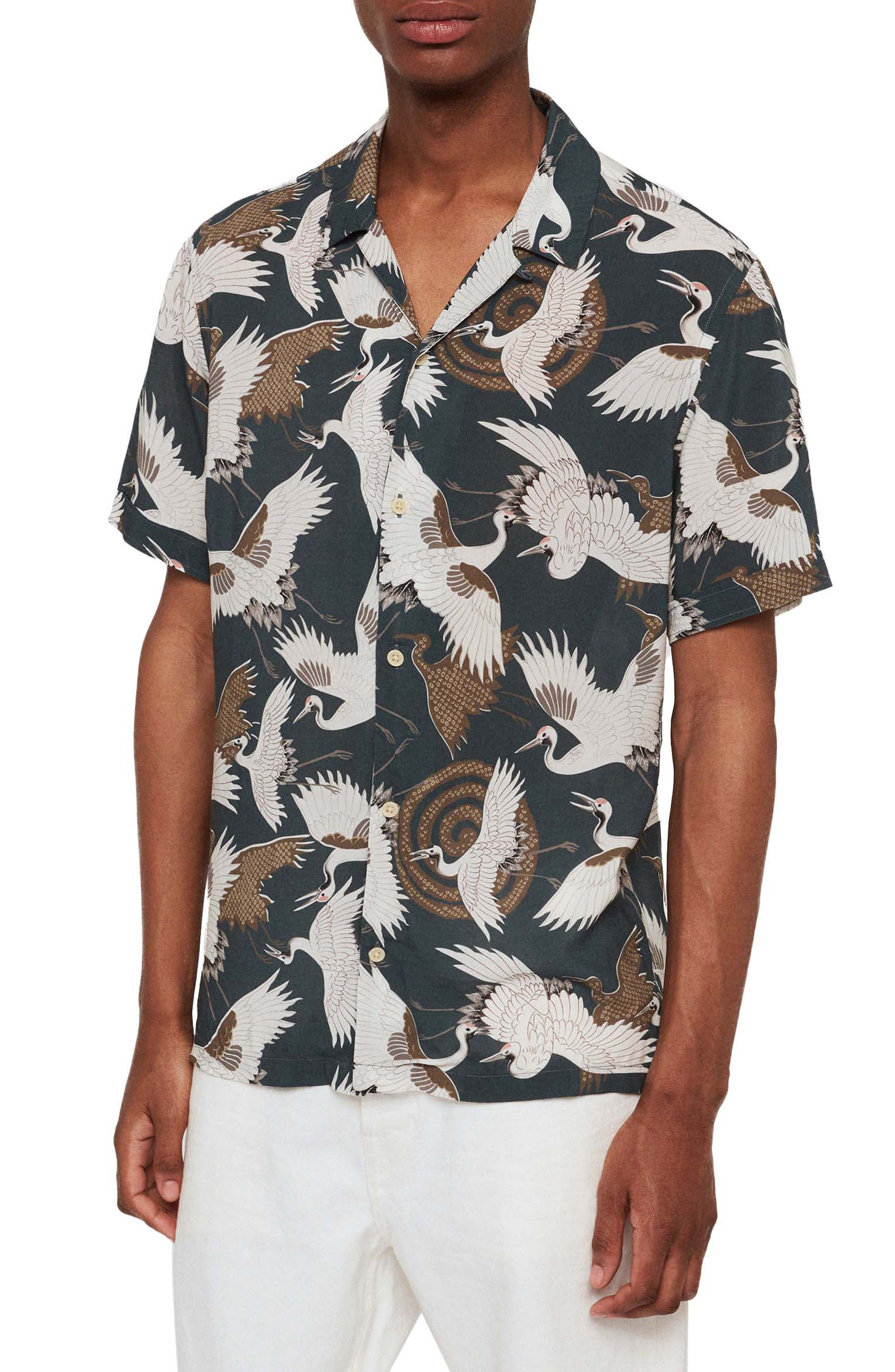 Tsuru Slim Fit Short Sleeve Sport Shirt, Main, color, BLUE