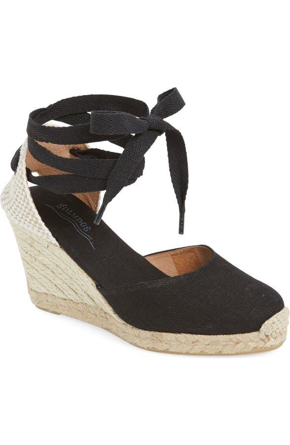 29af16968 Soludos Wedge Lace-Up Espadrille Sandal (Women)   Nordstrom