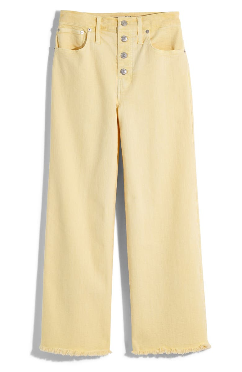 MADEWELL Garment Washed Edition Wide Leg Crop Jeans, Main, color, LUMIERE YELLOW