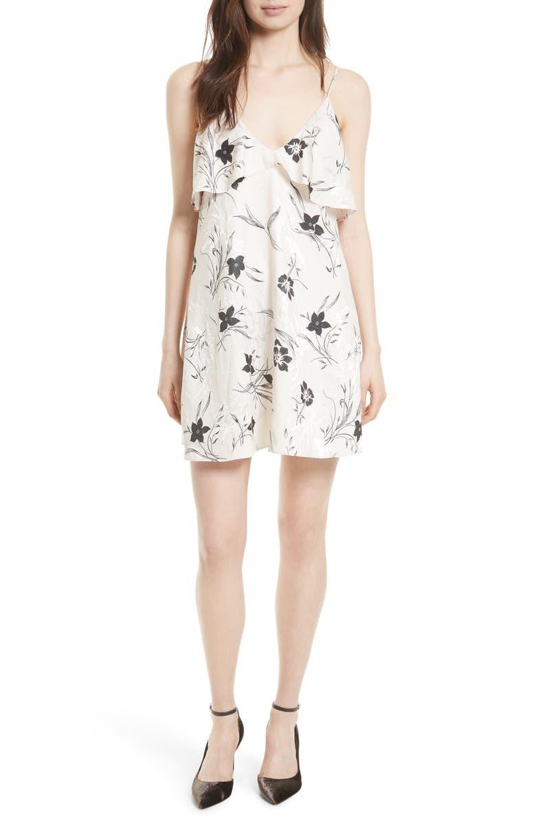 ALICE + OLIVIA Bess Slipdress, Main, color, CREAM/ BLACK