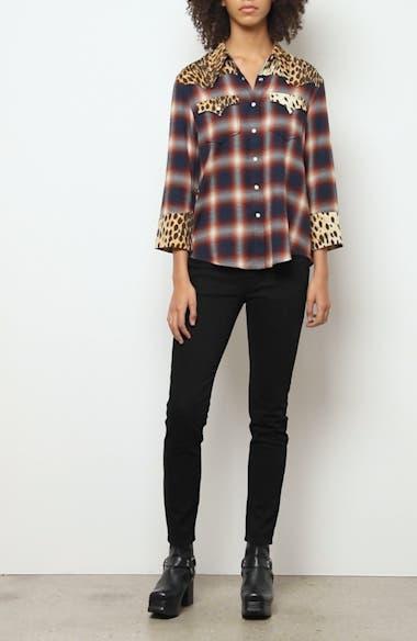 Cheetah Contrast Plaid Shirt, video thumbnail