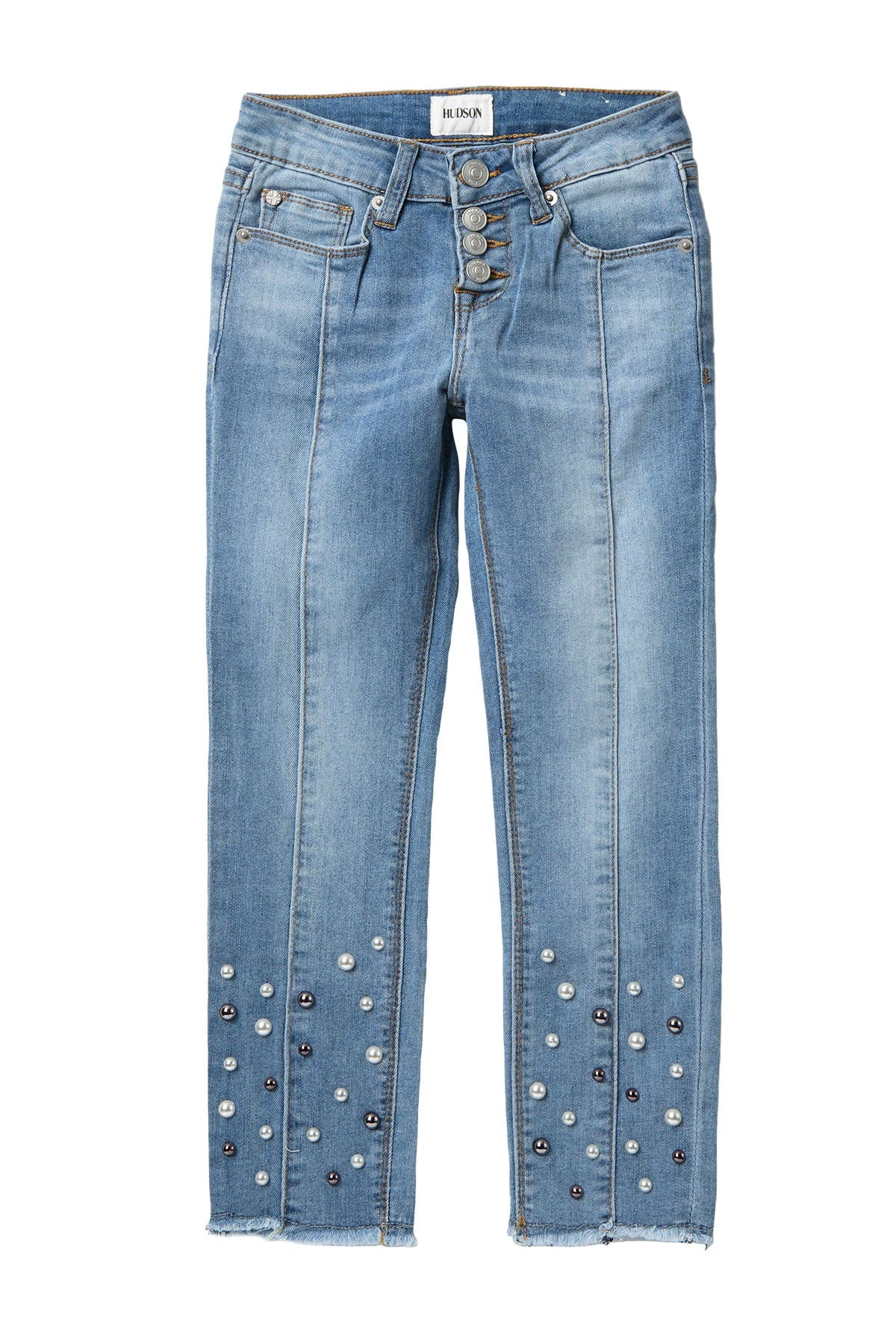 Image of HUDSON Jeans Galaxy Beaded Skinny Jeans (Big Girls)