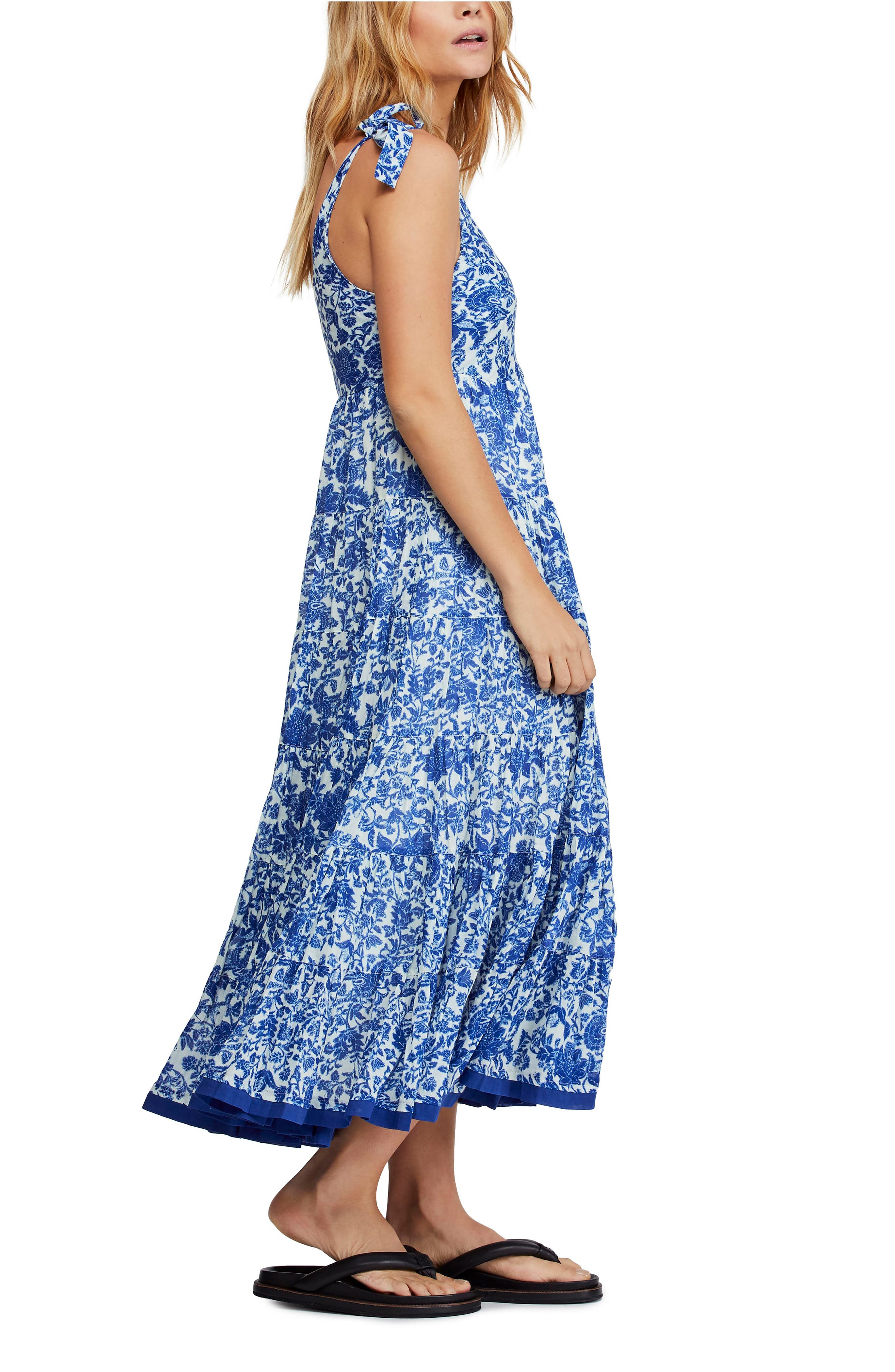 ,                             Kikas Print Dress,                             Alternate thumbnail 3, color,                             IVORY COMBO