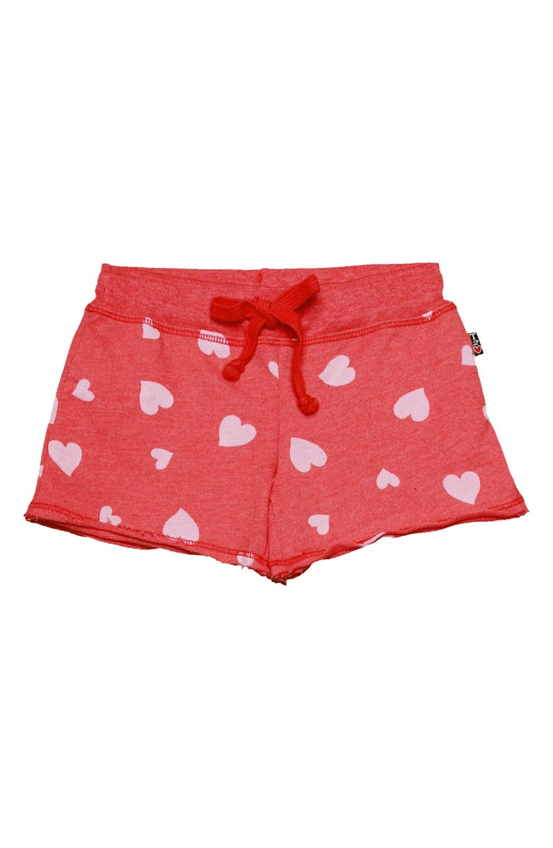 T2 LOVE Heart Print Shorts, Main, color, 600