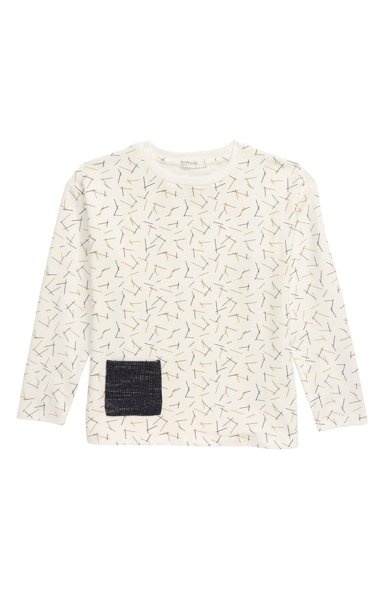 MILES BABY Knit T-Shirt, Main, color, OFF WHITE