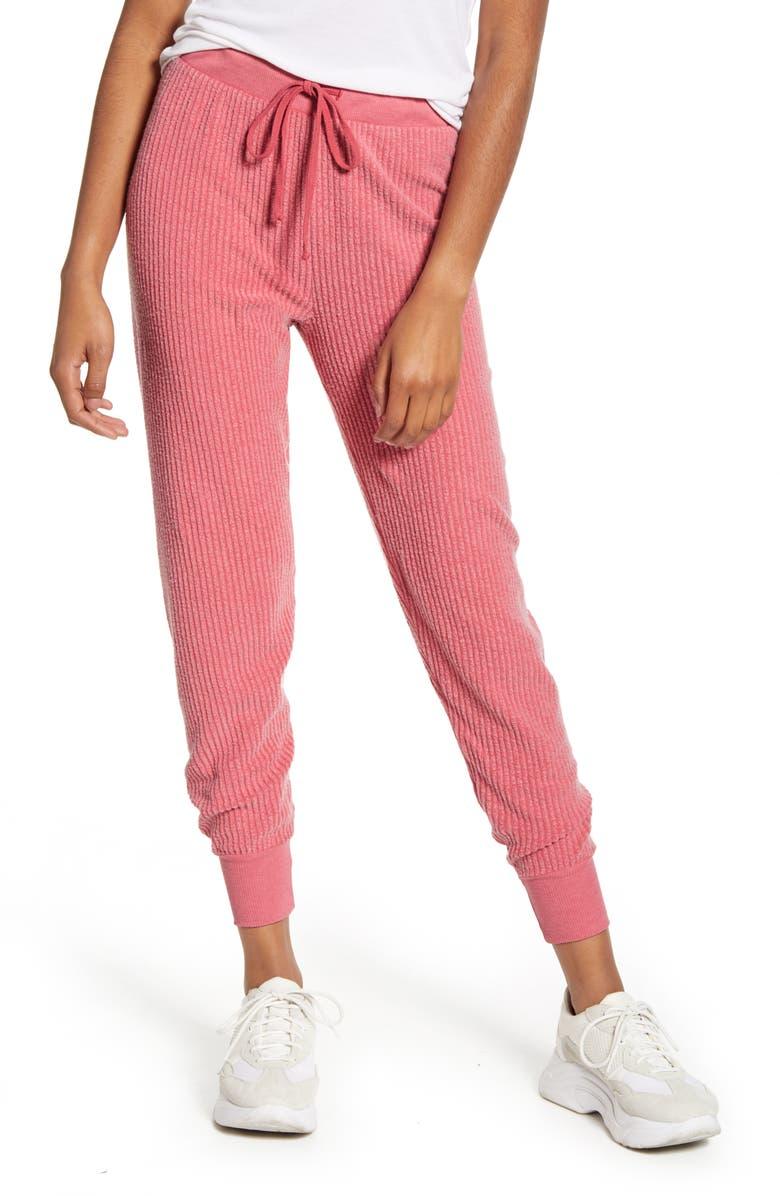 WILDFOX Jack Ribbed Cotton Blend Jogger Pants, Main, color, 650
