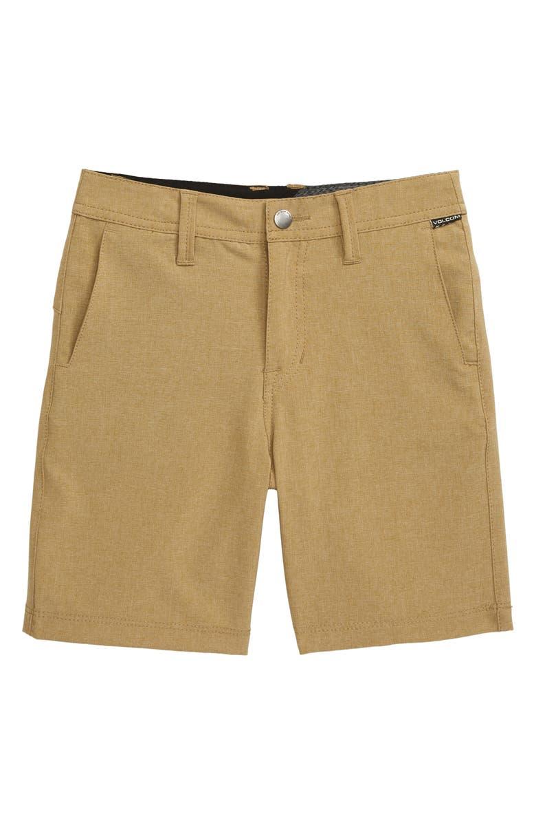 VOLCOM Frickin Surf N' Turf Static Hybrid Shorts, Main, color, DARK KHAKI