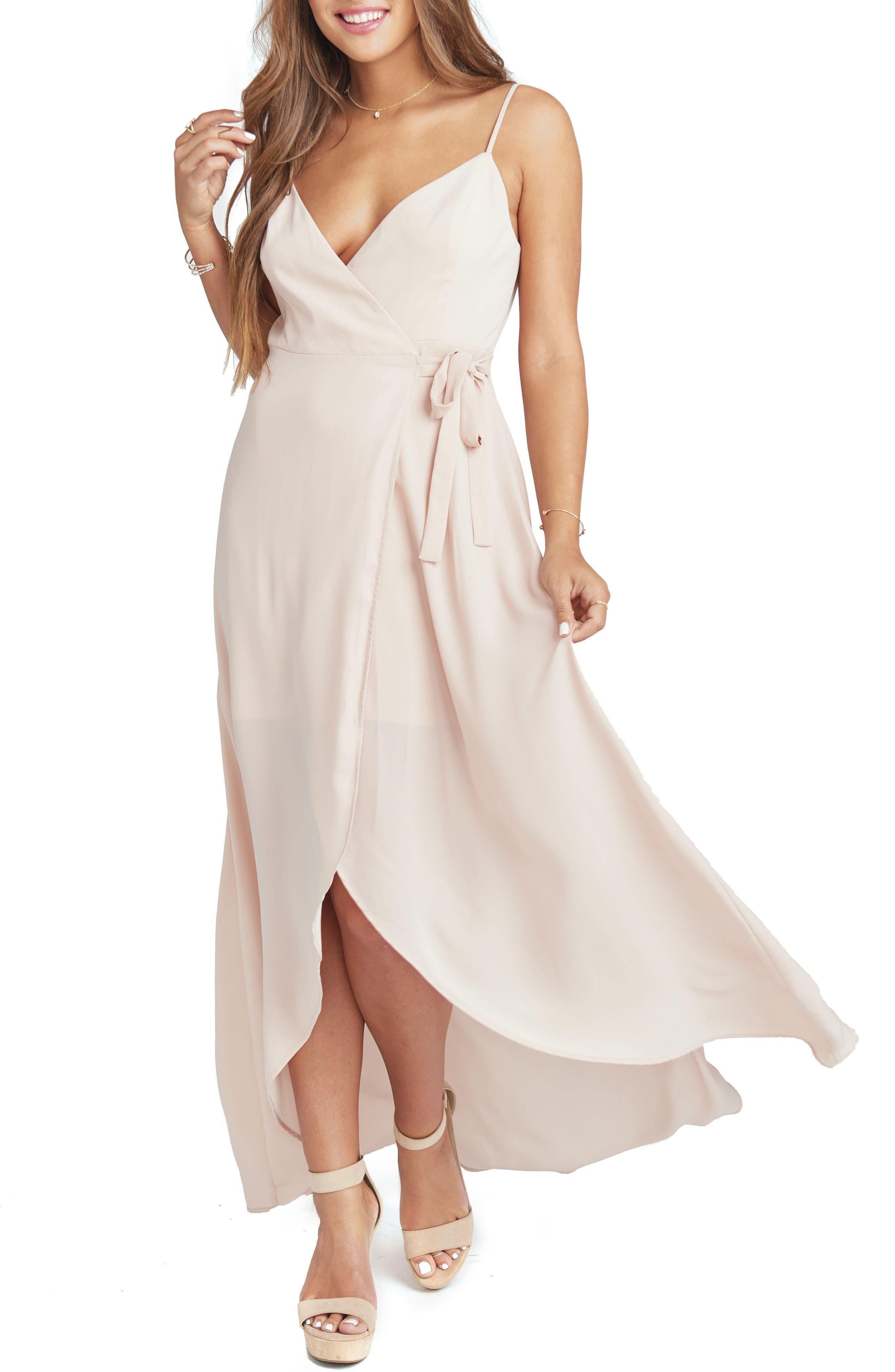 70s Dresses – Disco Dress, Hippie Dress, Wrap Dress Womens Show Me Your Mumu Mariah Wrap Maxi Dress $180.00 AT vintagedancer.com