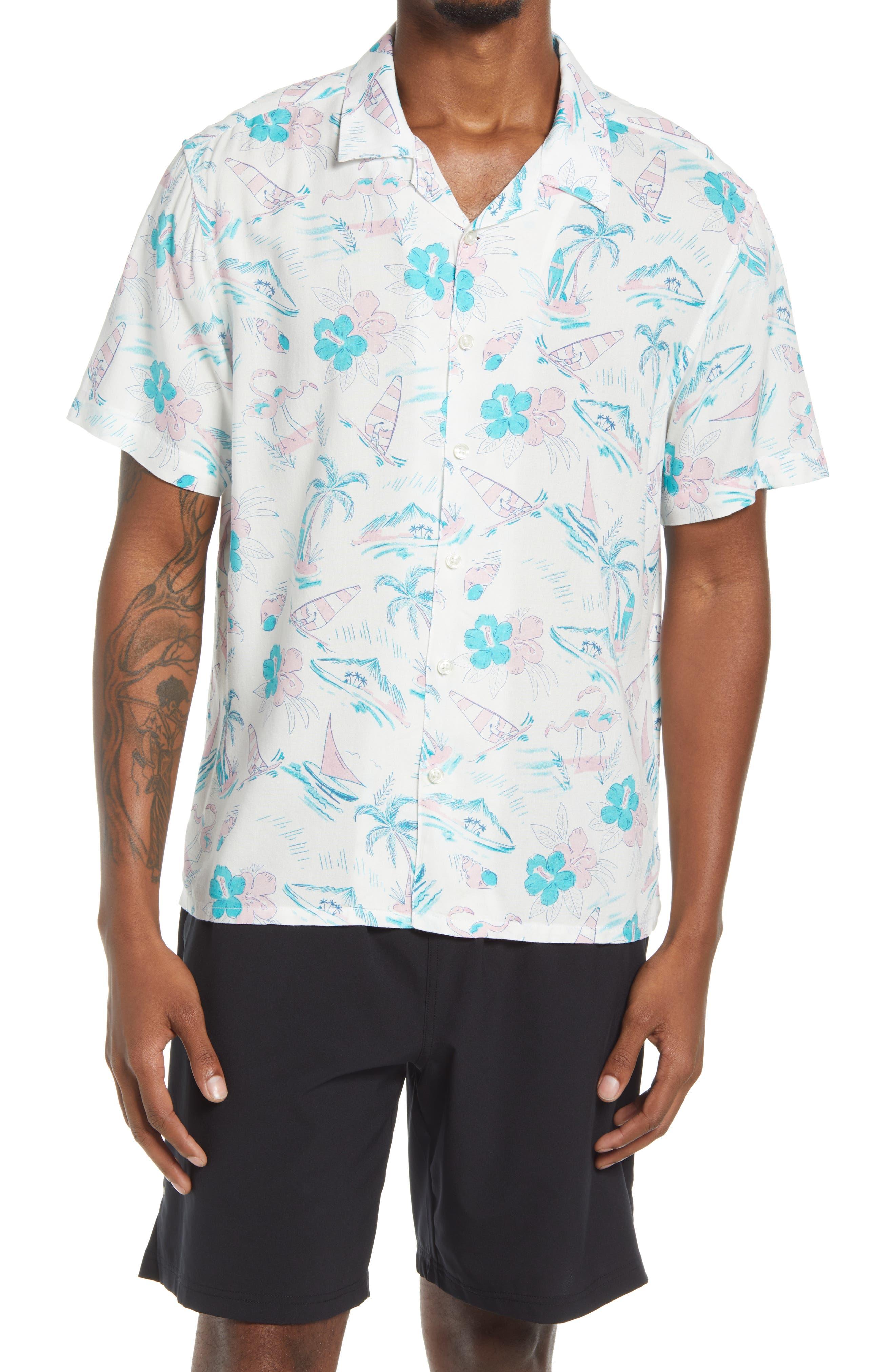 Year Round Summer Short Sleeve Button-Up Camp Shirt