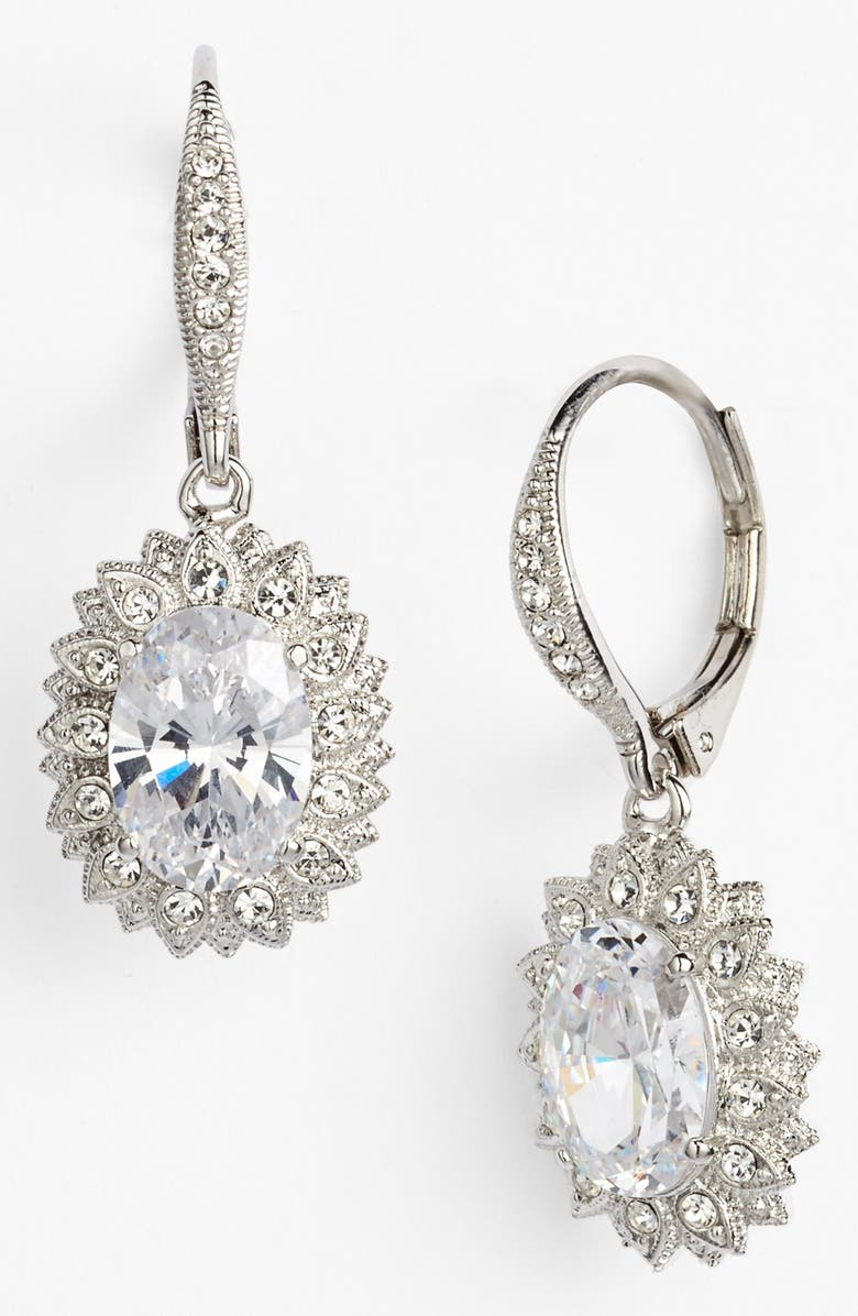 NADRI Floral Drop Earrings, Main, color, 040