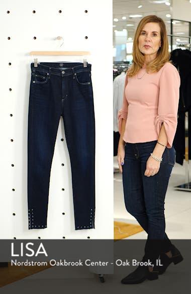 Rocket Stud Split Hem High Waist Ankle Jeans, sales video thumbnail