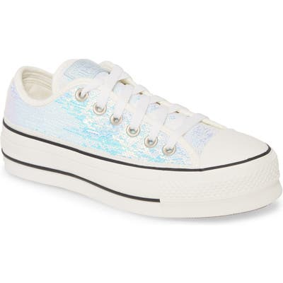 Converse Chuck Taylor All Star Sequin Embellished Platform Sneaker, Metallic