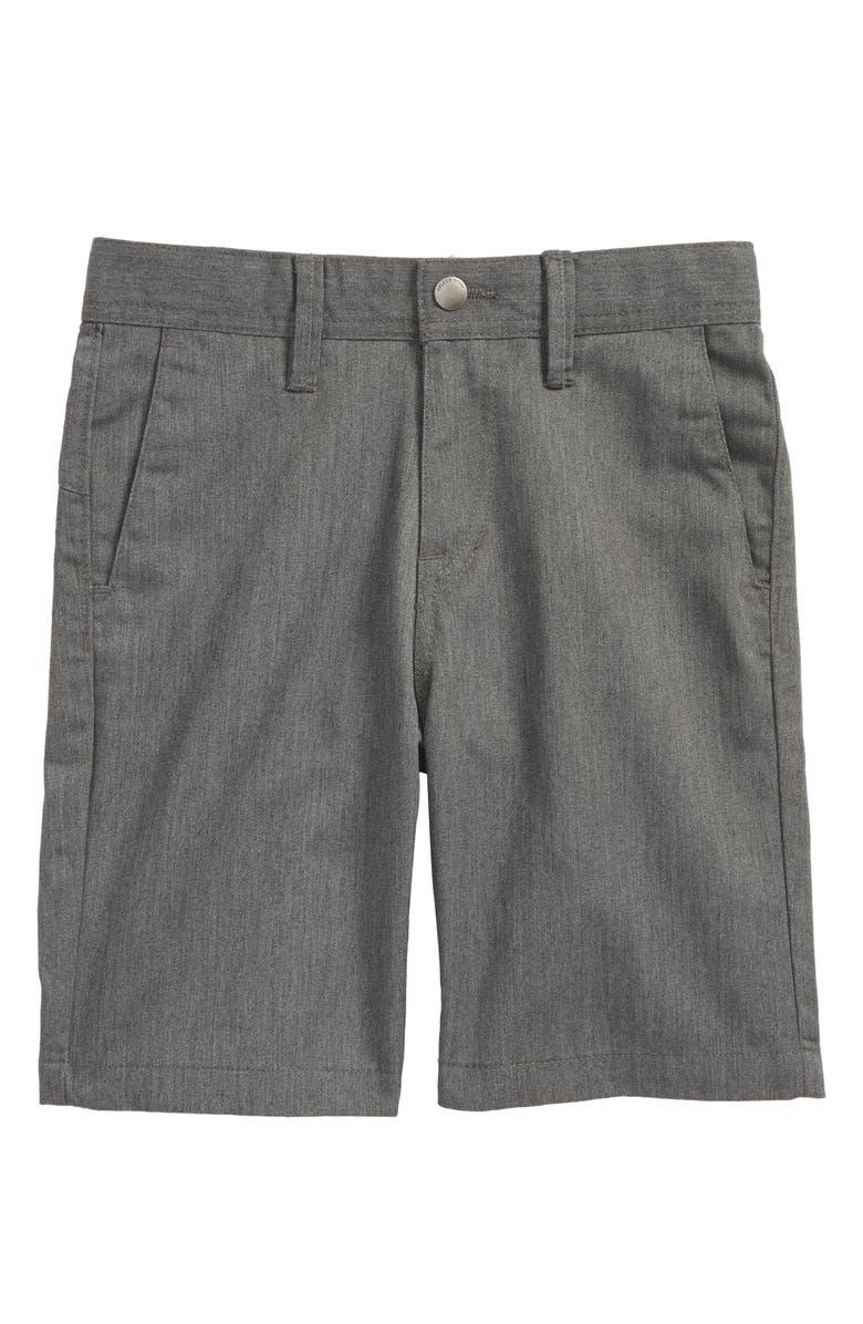 VOLCOM Chino Shorts, Main, color, CHARCOAL HEATHER