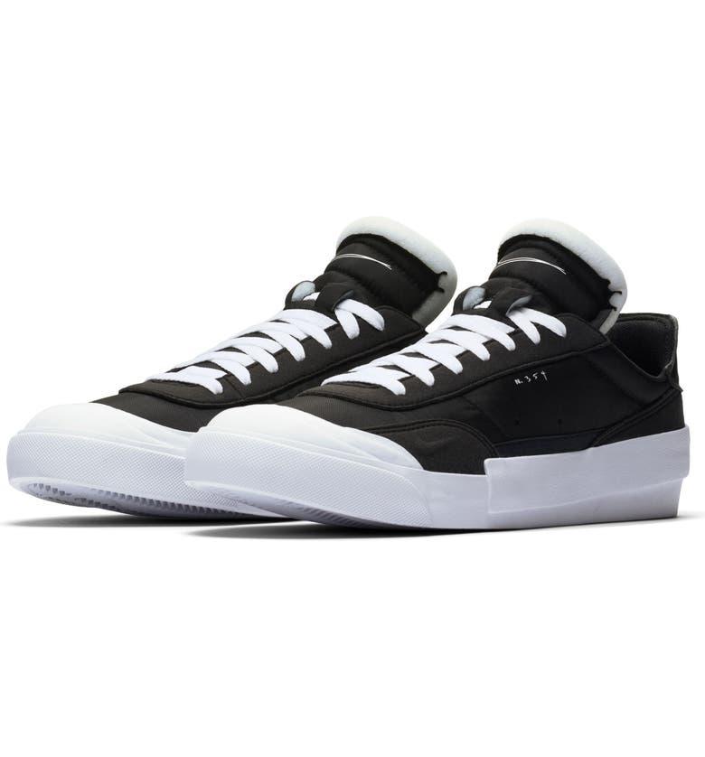 NIKE Drop-Type LX Sneaker, Main, color, BLACK/ WHITE