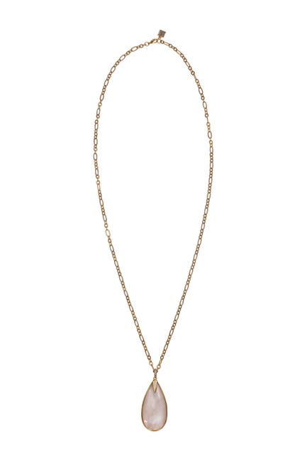 Image of Laundry By Shelli Segal Gold-Tone Teardrop Pendant Necklace