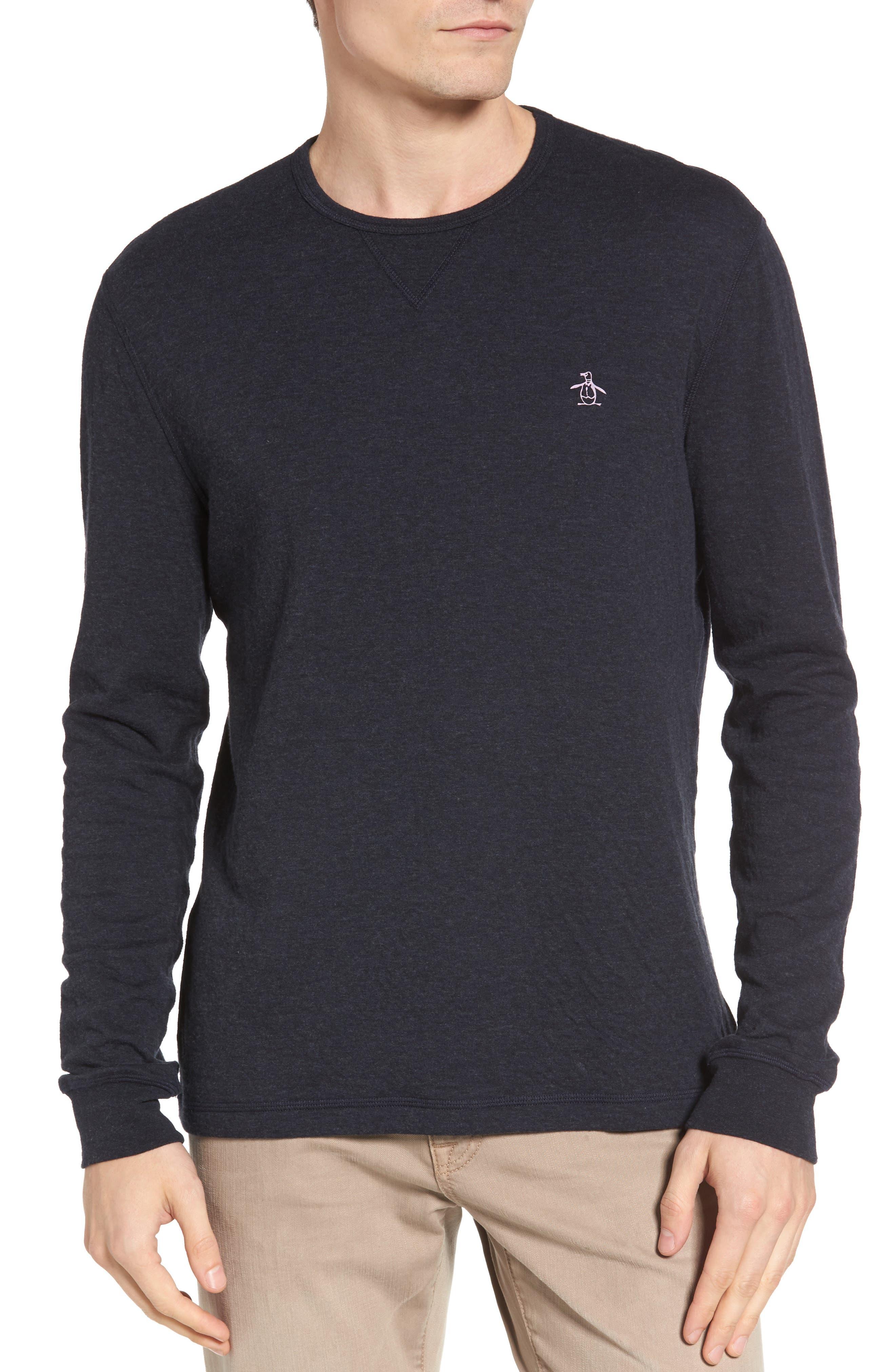 Image of Original Penguin Reversible Long Sleeve T-Shirt