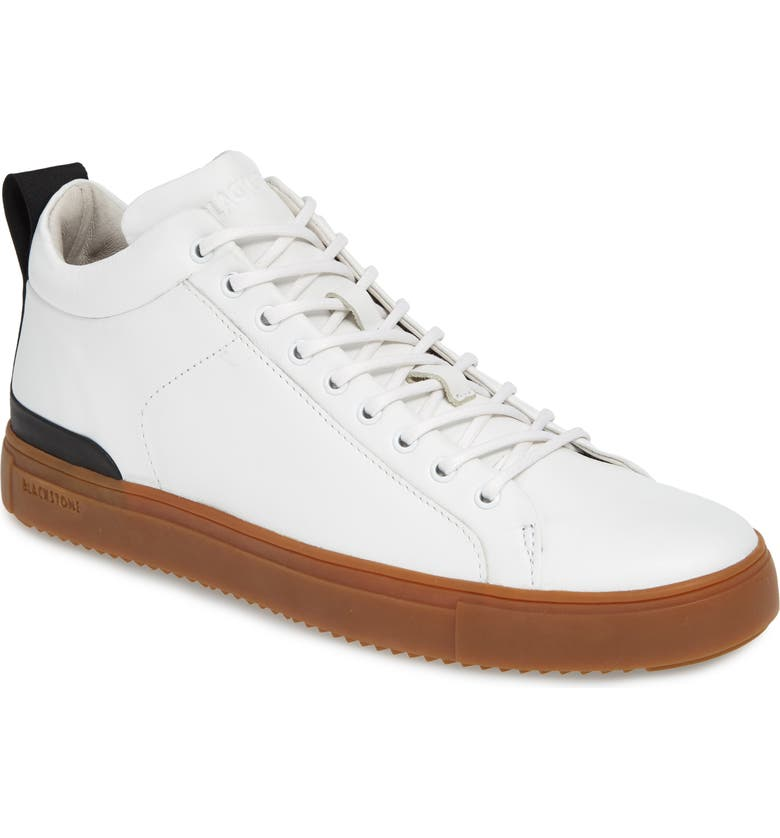 BLACKSTONE Mid Top Sneaker, Main, color, WHITE LEATHER