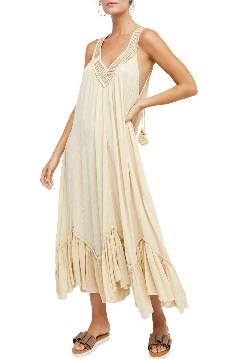 FREE PEOPLE Dreams of Bali Cotton Gauze Midi Dress, Main, color, 253