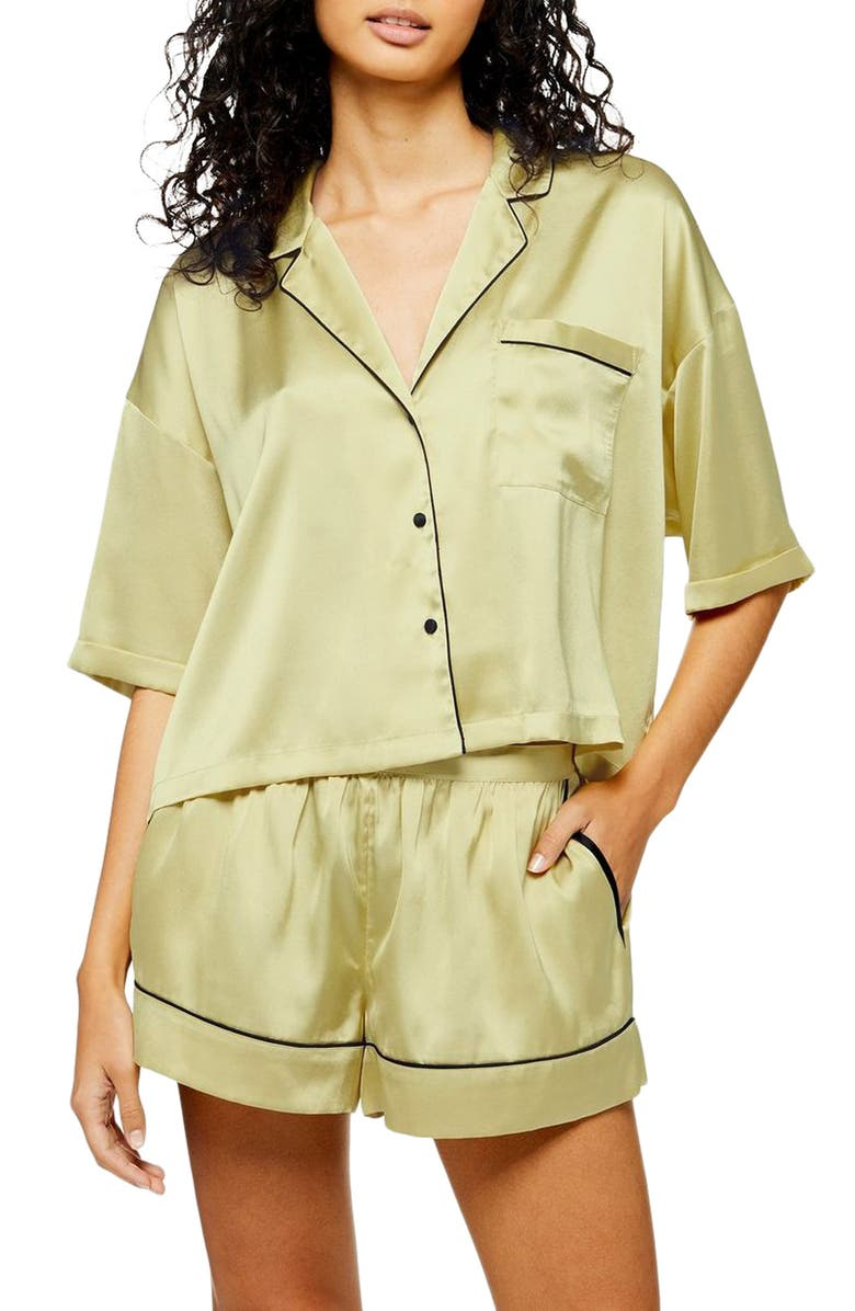TOPSHOP Chloe Short Pajamas, Main, color, 300