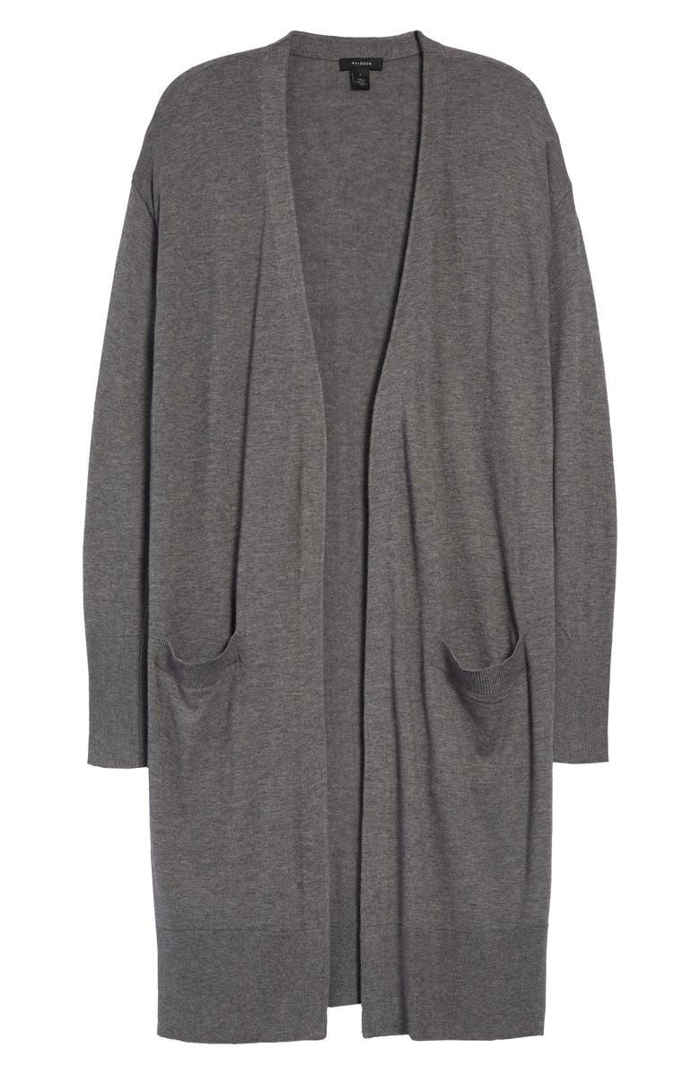 HALOGEN<SUP>®</SUP> Open Front Pocket Cardigan, Main, color, 021
