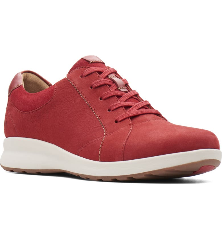 CLARKS<SUP>®</SUP> Un Adorn Sneaker, Main, color, RED NUBUCK/ SUEDE