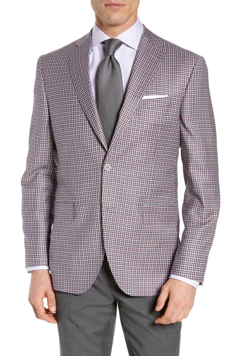DAVID DONAHUE Connor Classic Fit Check Wool Sport Coat, Main, color, 652