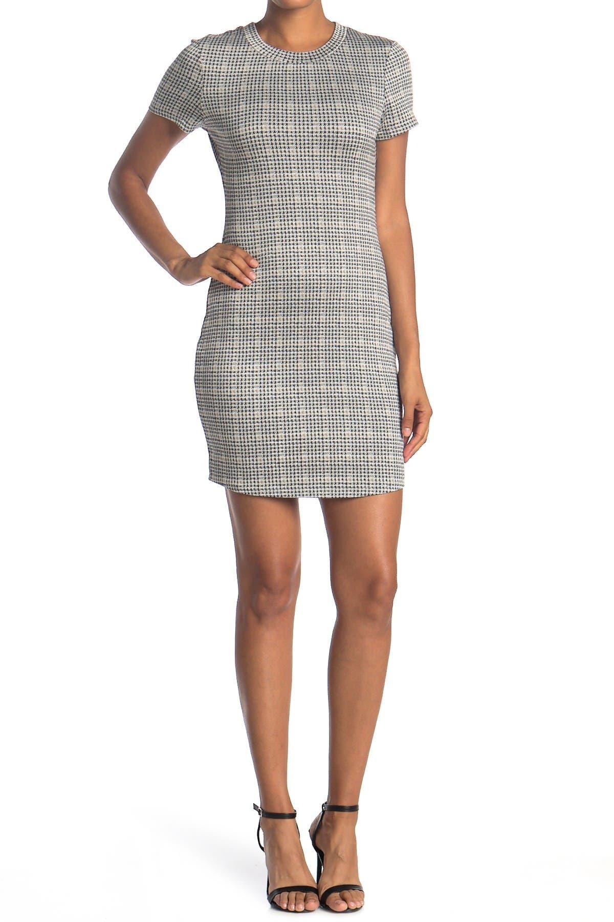 Image of Cloth By Design Plaid T-Shirt Dress