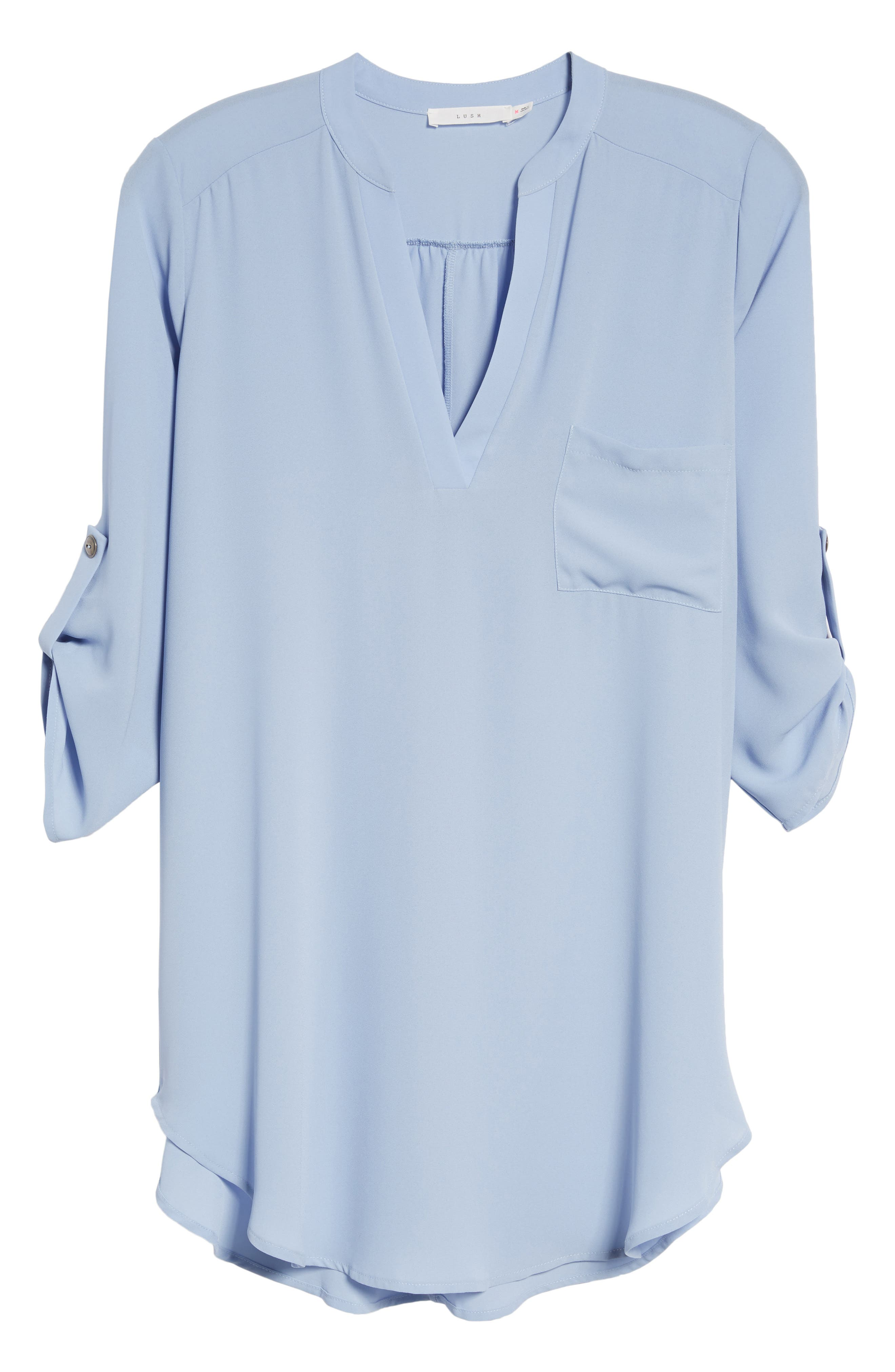 ,                             Perfect Roll Tab Sleeve Tunic,                             Alternate thumbnail 80, color,                             410