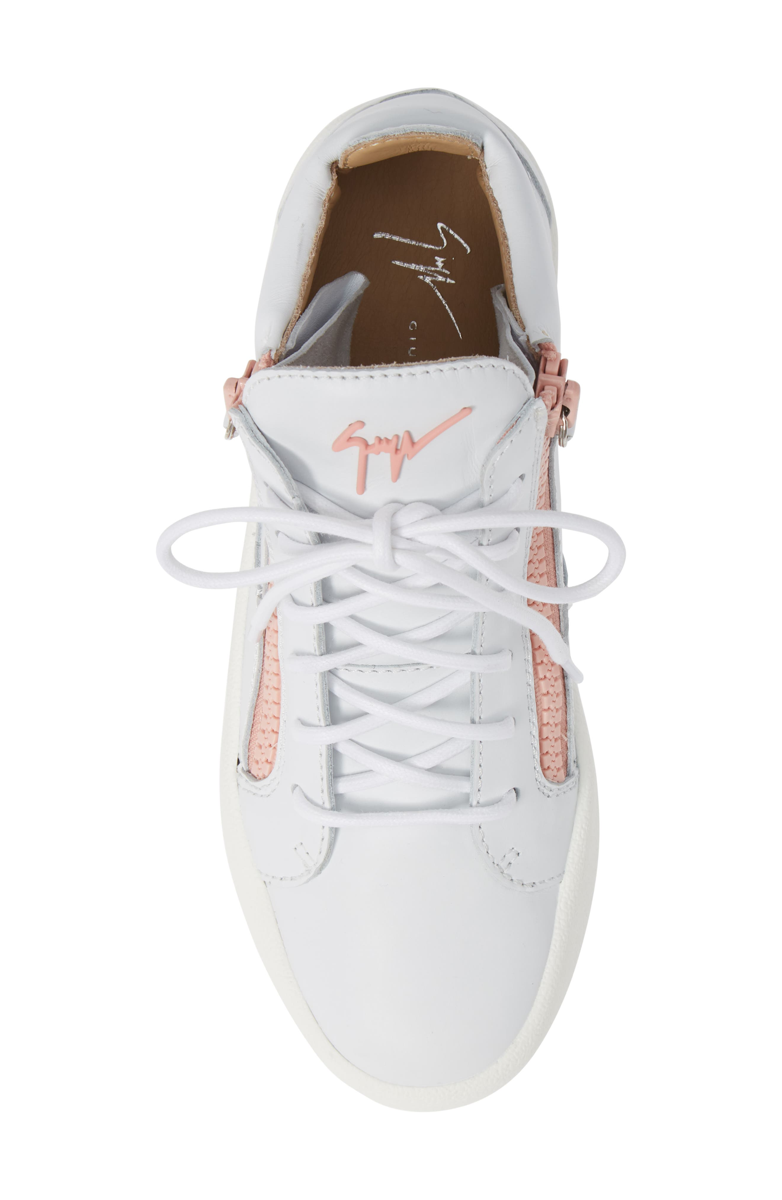 ,                             May London High Top Sneaker,                             Alternate thumbnail 5, color,                             WHITE/ PINK