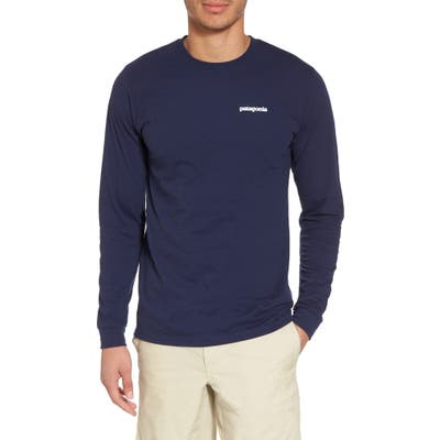 Patagonia Responsibili-Tee Long Sleeve T-Shirt, Blue