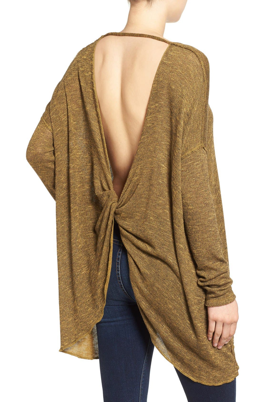 ,                             'Shadow' Oversize Hacci Open Back Top,                             Alternate thumbnail 21, color,                             730