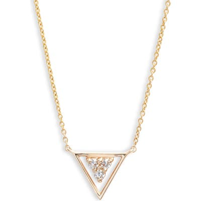 Dana Rebecca Designs Ivy Diamond Triangle Pendant Necklace
