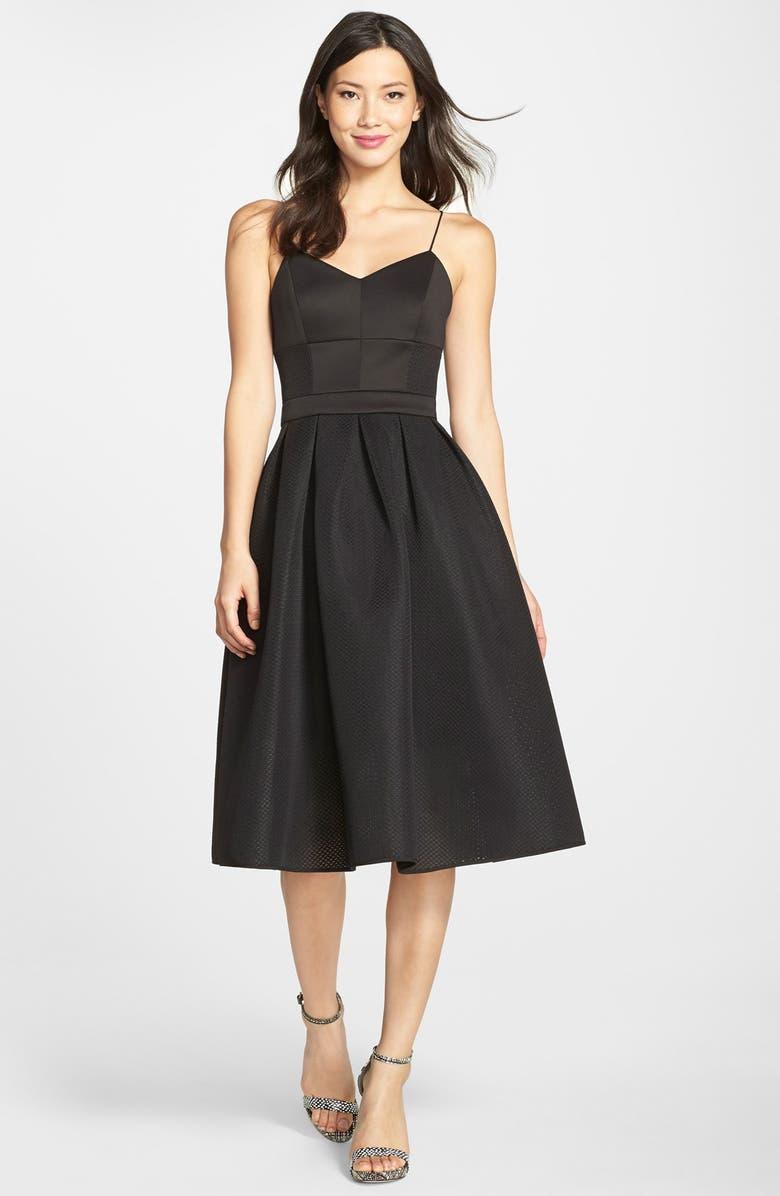 CYNTHIA ROWLEY Scuba Bustier Maxi Dress, Main, color, 001