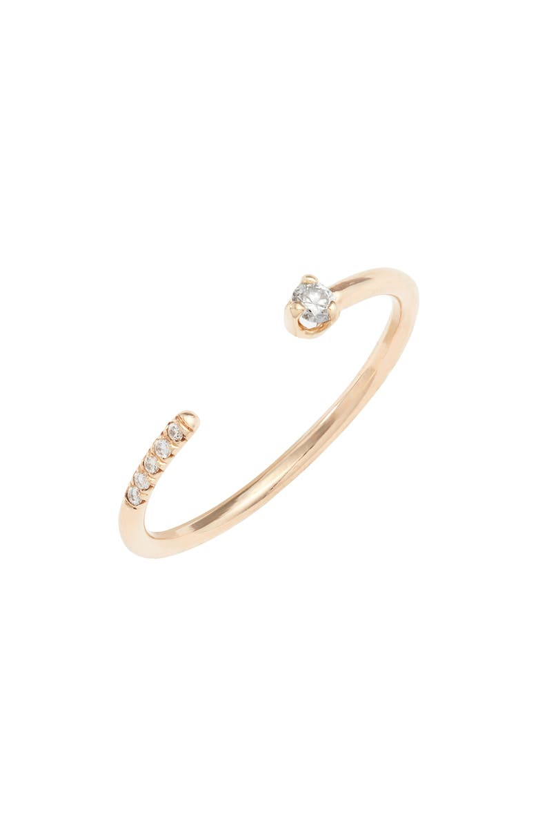 ZOË CHICCO Open Diamond Ring, Main, color, YELLOW GOLD