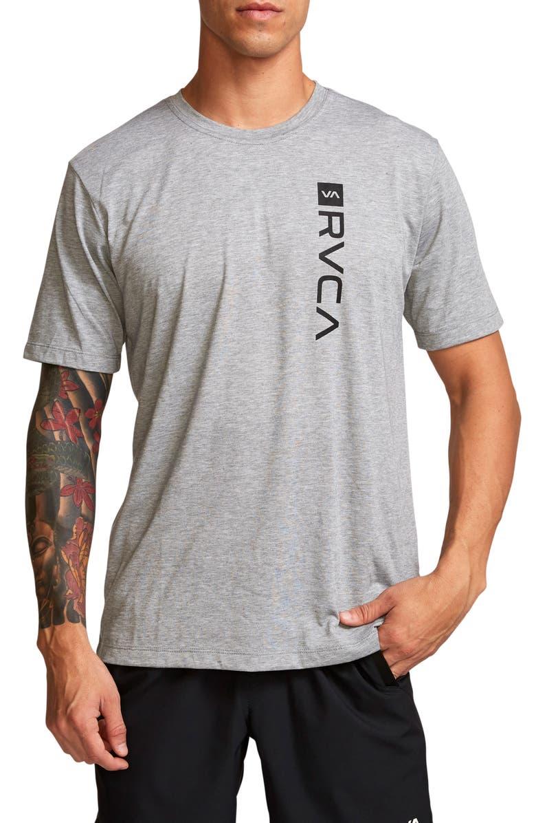 RVCA Box Logo T-Shirt, Main, color, ATHLETIC HEATHER