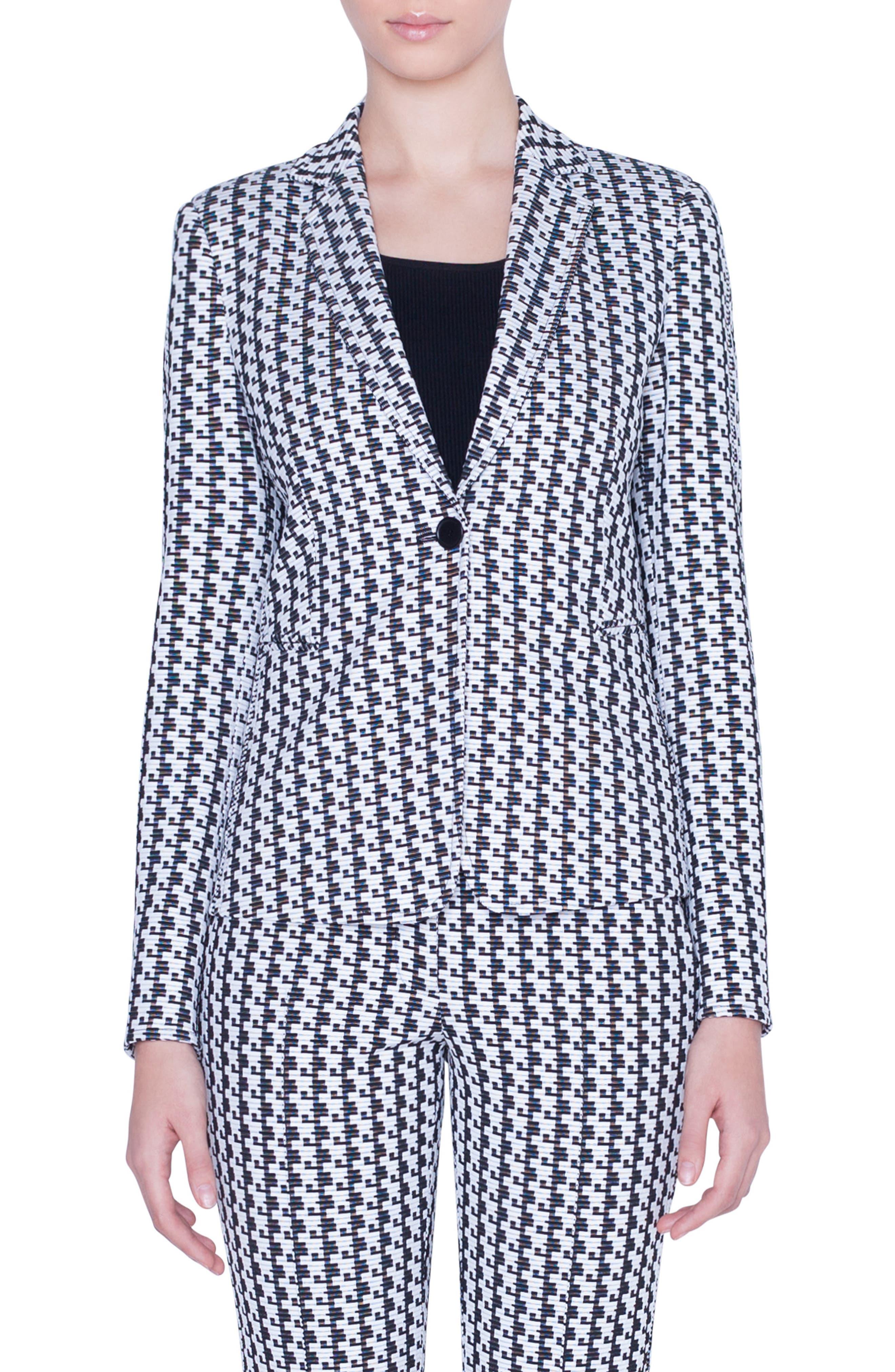 Akris Punto Coats Soundboard Pattern Jersey Jacket