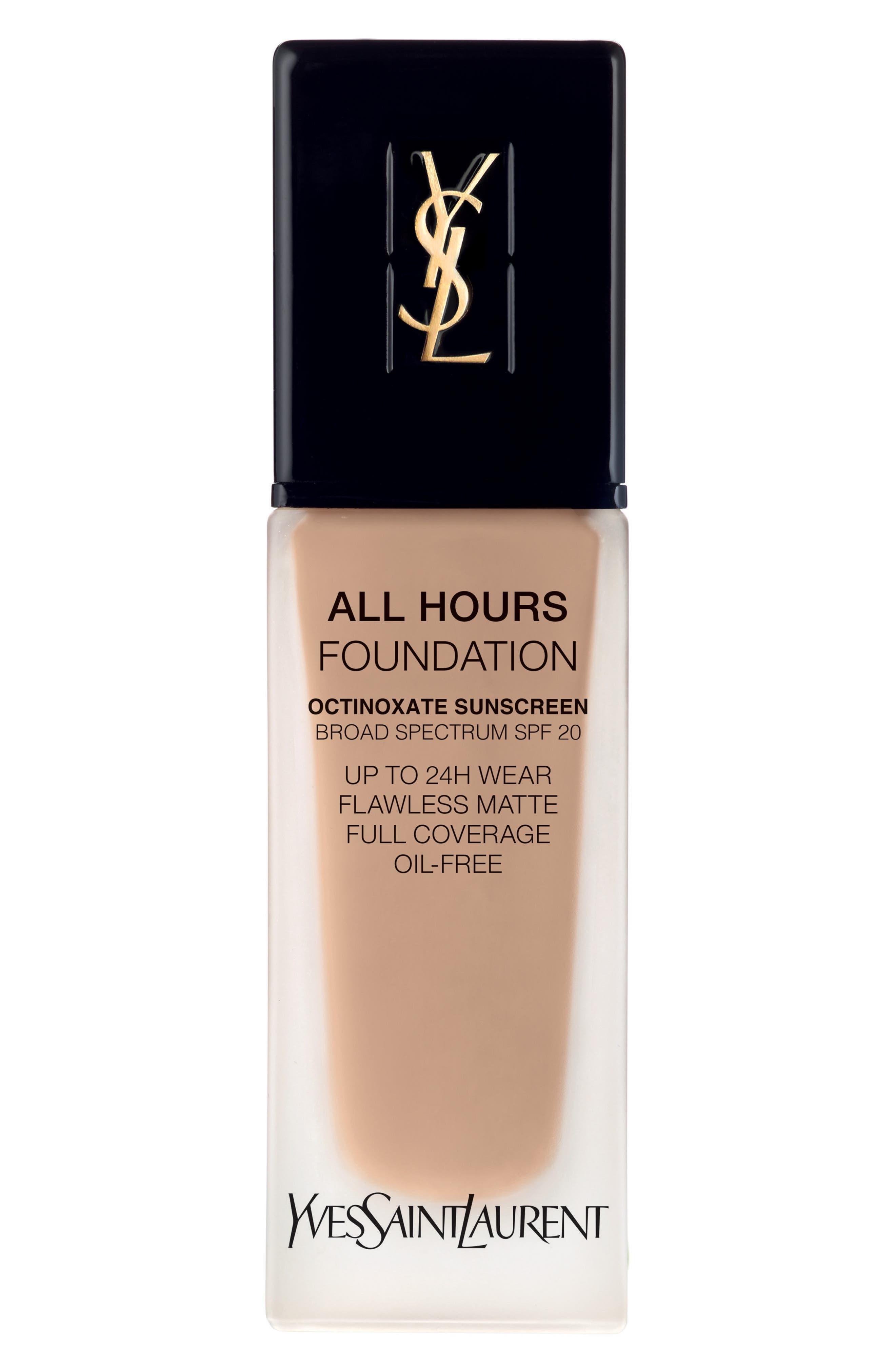 Yves Saint Laurent All Hours Full Coverage Matte Foundation Spf 20 - Br40 Cool Sand