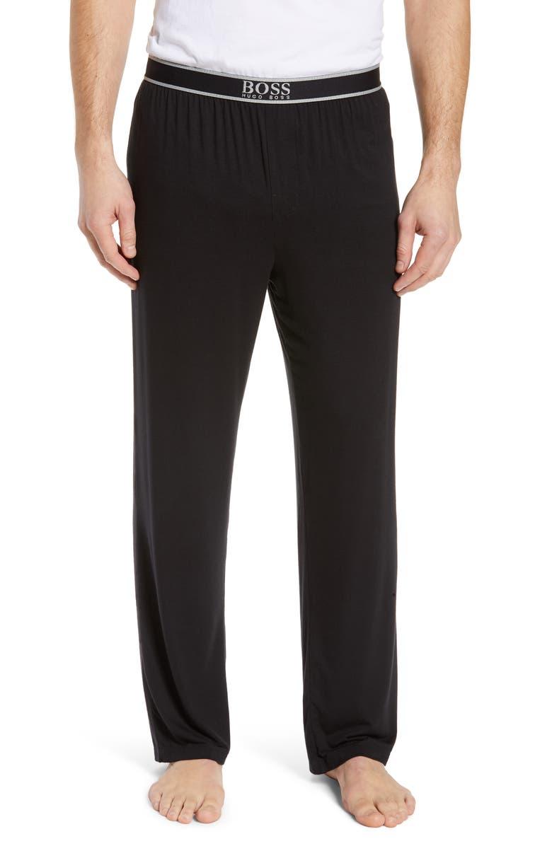 BOSS Micromodal Pajama Pants, Main, color, BLACK