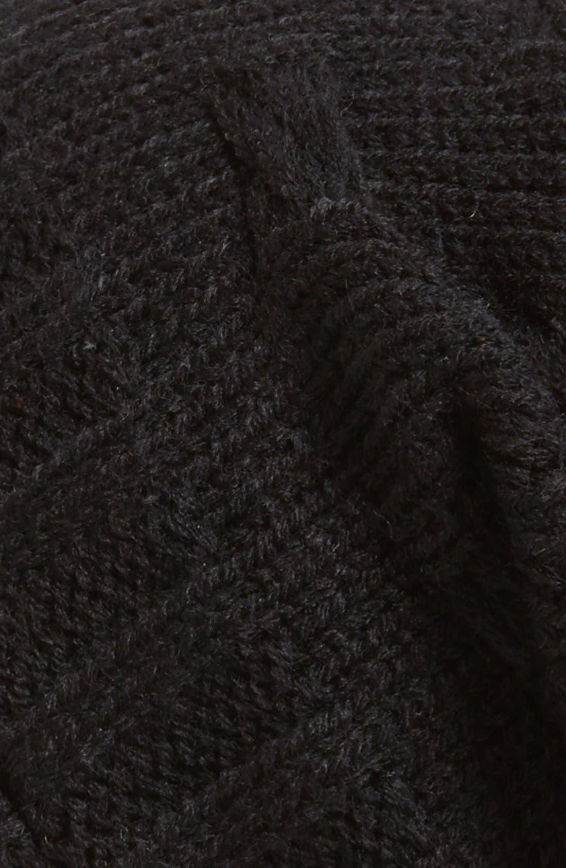 ,                             Braid Knit Beanie,                             Alternate thumbnail 2, color,                             001