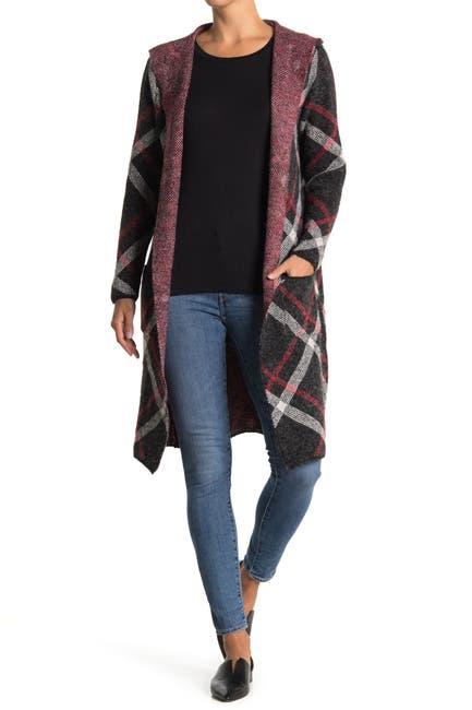 Image of JOSEPH A Hooded Long Cardigan Sweater Coat