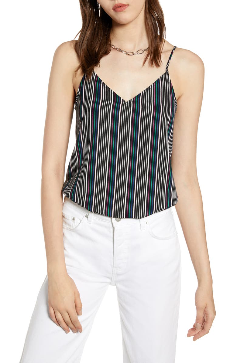 HALOGEN<SUP>®</SUP> V-Neck Crepe Camisole, Main, color, 002