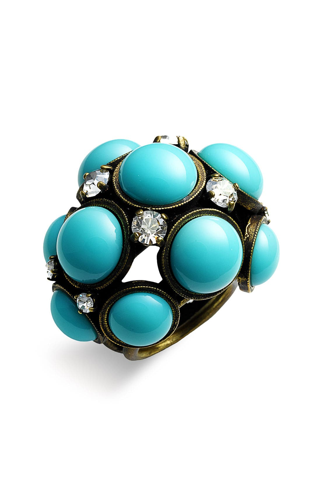 Glass Cabochon Statement Ring, Main, color, 440