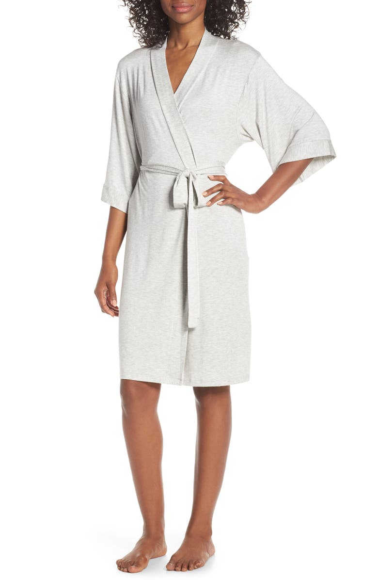 PAPINELLE Short Robe, Main, color, GREY