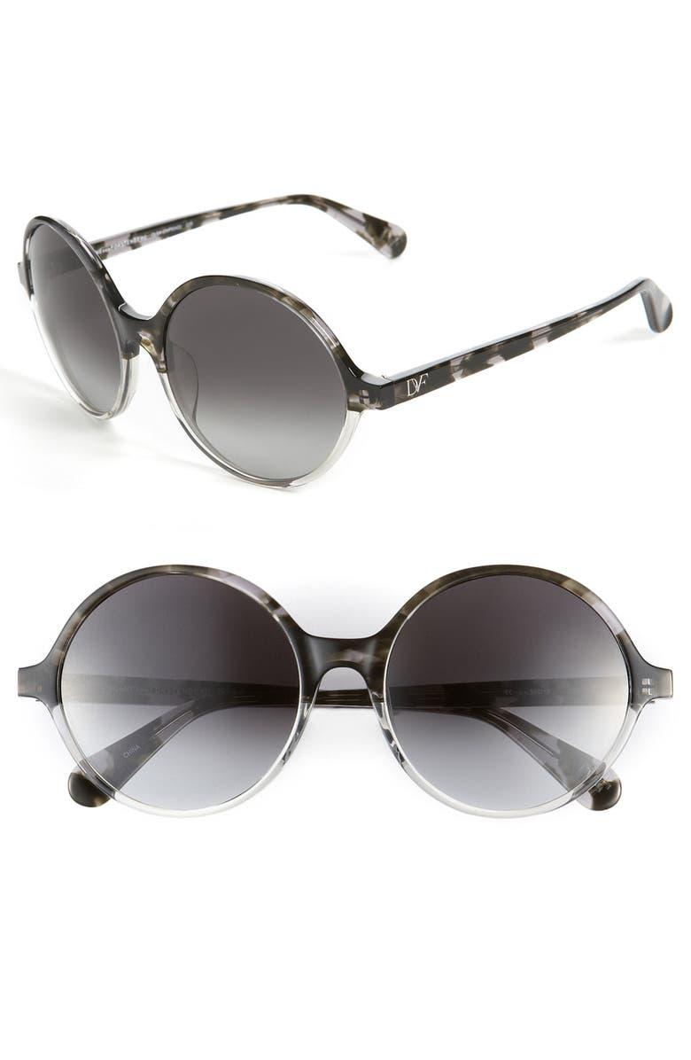 DIANE VON FURSTENBERG Round Sunglasses, Main, color, 020
