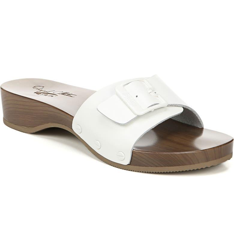 DR. SCHOLL'S It's Better Slide Sandal, Main, color, WHITE LEATHER