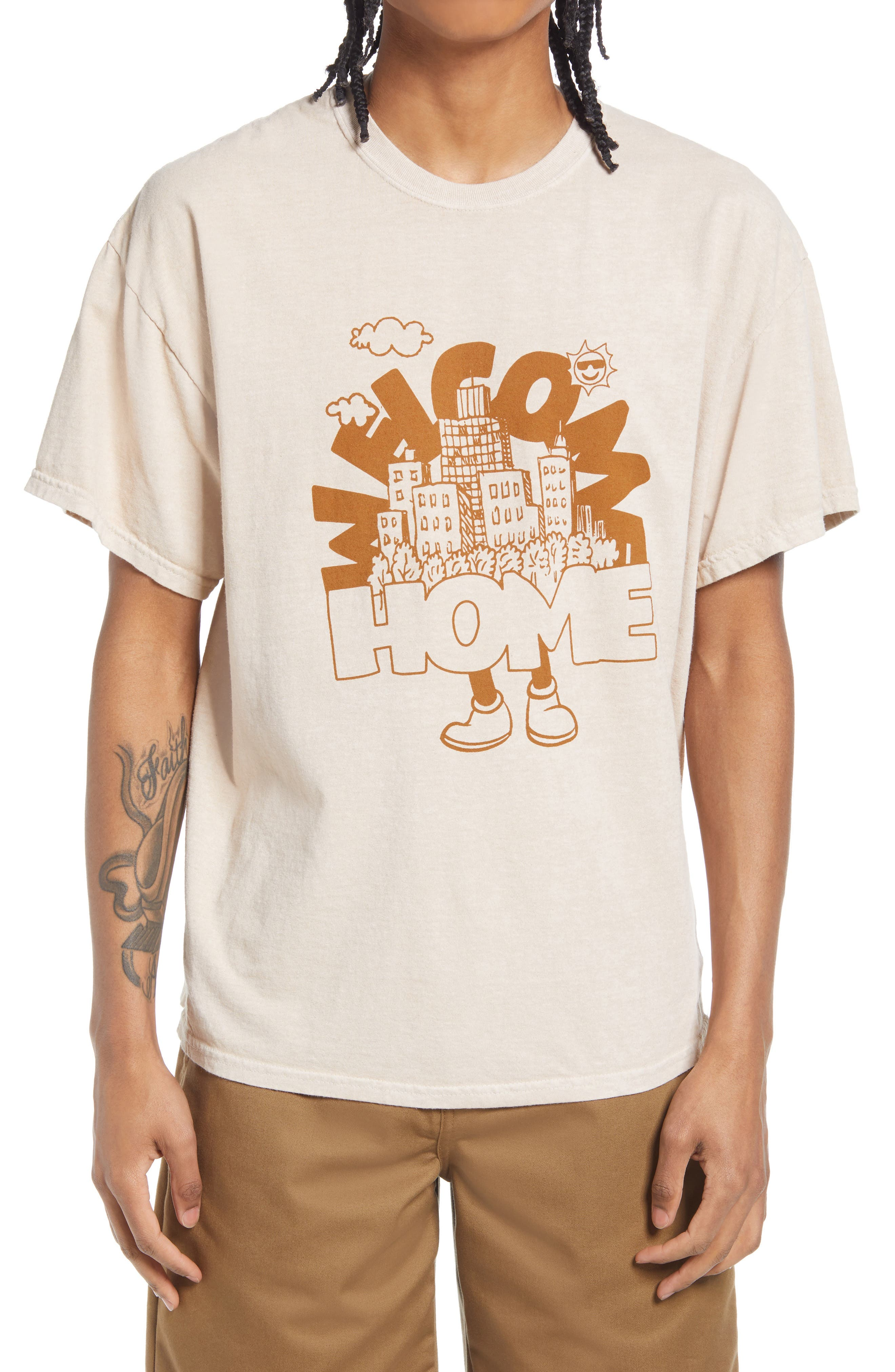 Welcome Home Cotton Graphic Tee