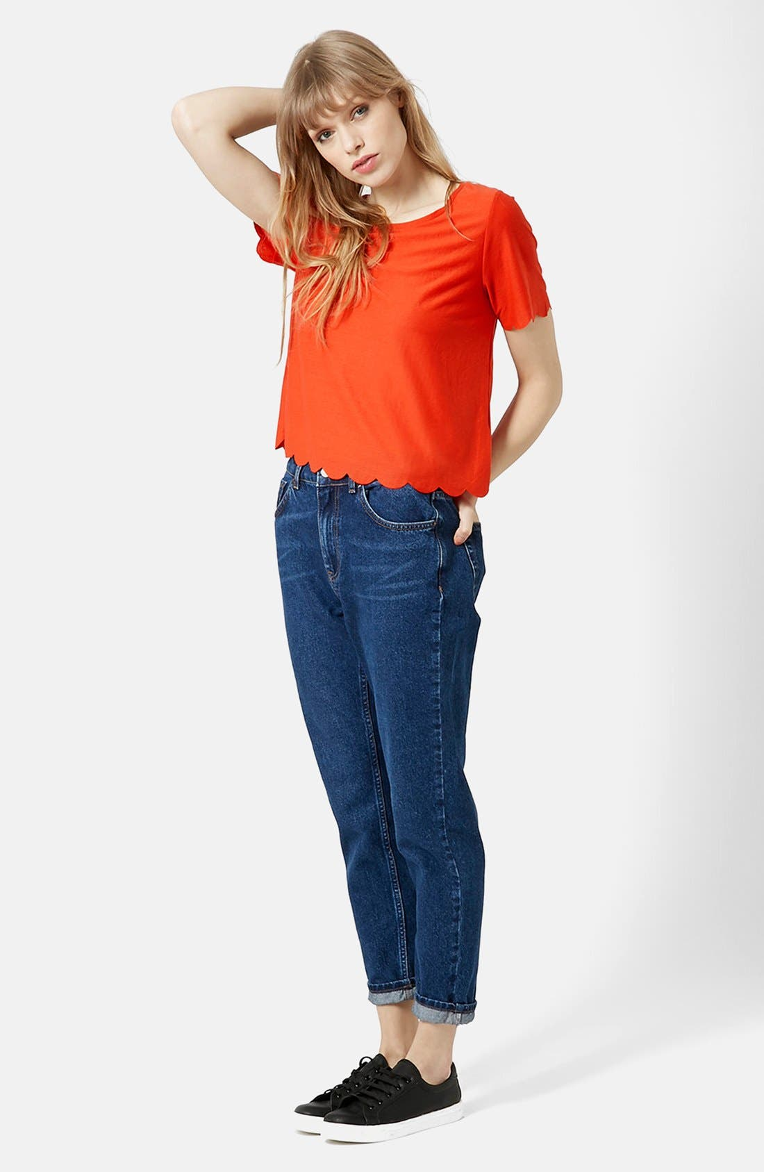 ,                             Scallop Frill Tee,                             Alternate thumbnail 35, color,                             800